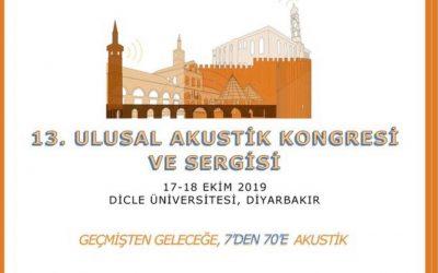 13. Ulusal Akustik Kongresi ve Sergisi – Türk Akustik Derneği