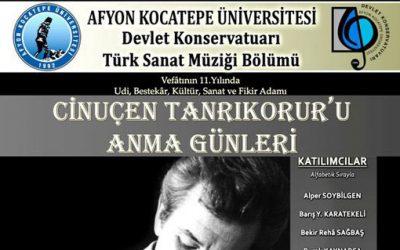 Cinuçen Tanrıkorur'u Anma Günleri – Afyon Kocatepe Üniversitesi